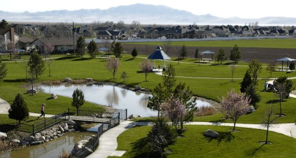 Aerial view of Legacy Park