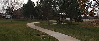 Walking Path in a Park
